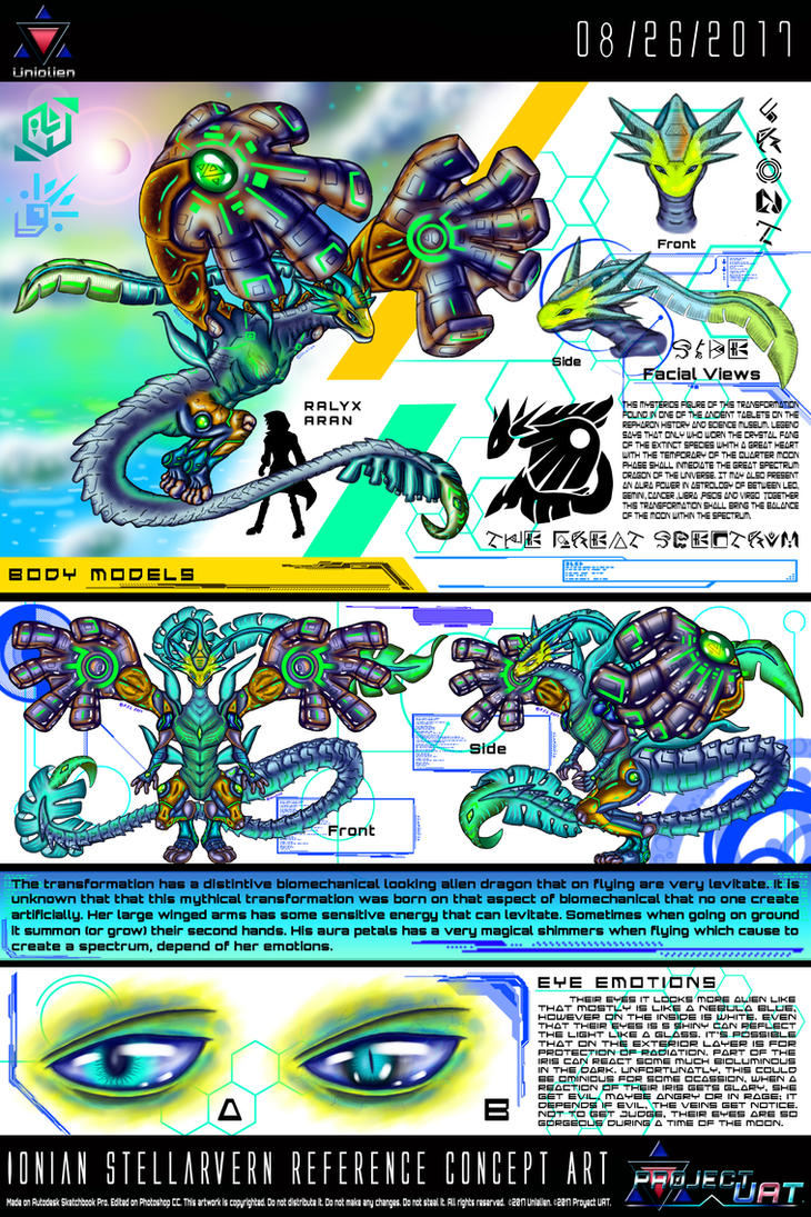 Ionian Stellarvern Reference Concept Art by Unialien