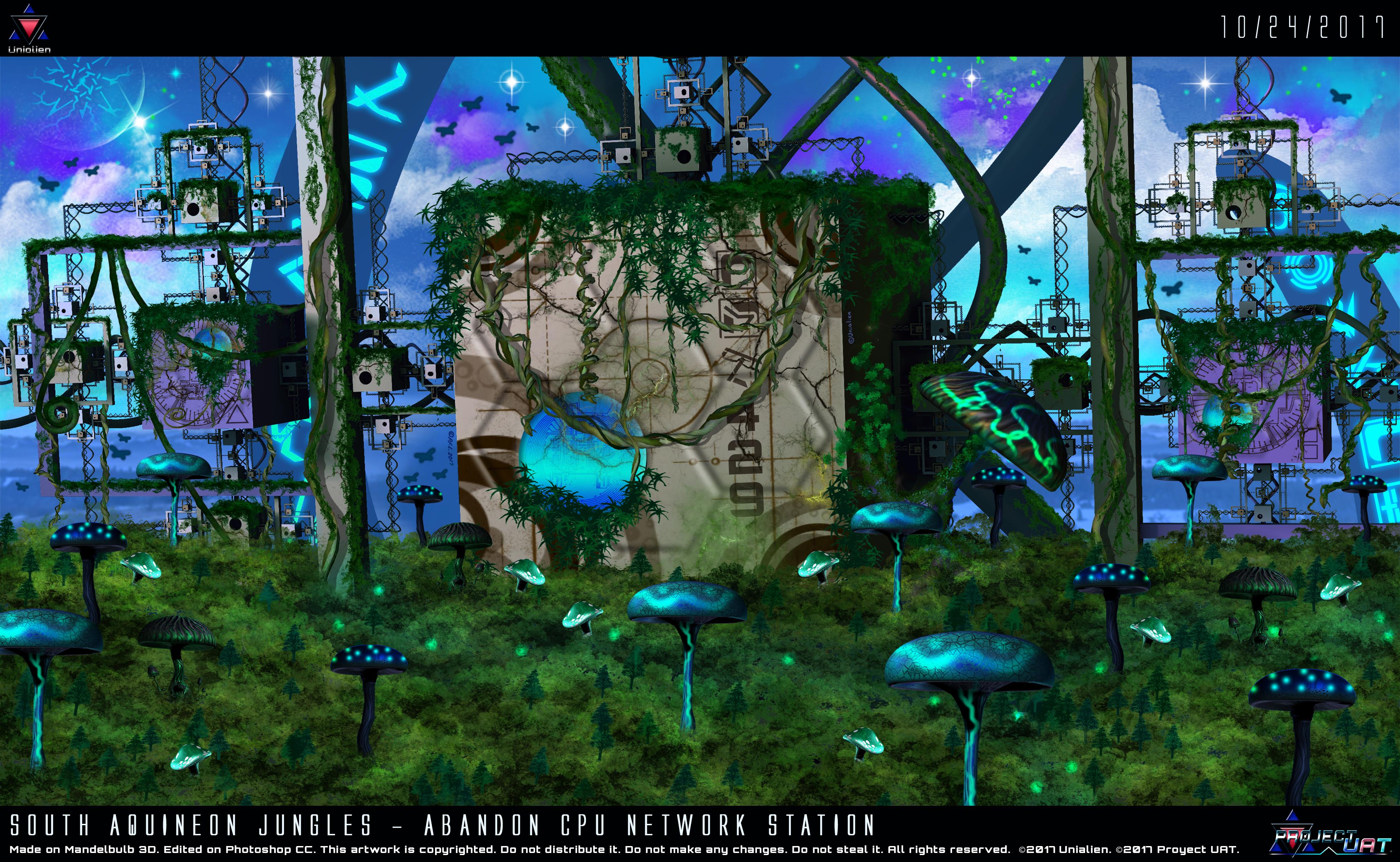 South Aquineon Jungles-Abandon CPU Network Station