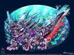 Axolophod Illustration Art by Unialien