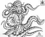 Emperken - The Mutant Alien Cephalopod by Unialien