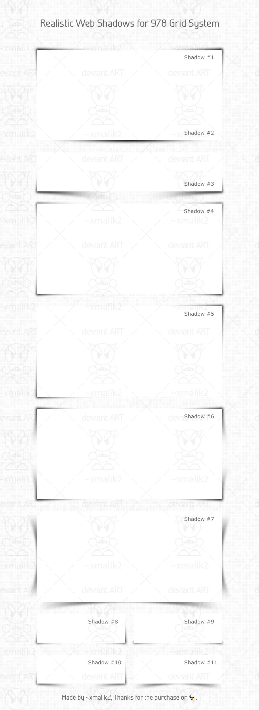 Realistic Web Shadows for 978 Grid System by xmalik2
