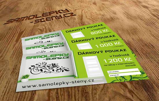 Gift voucher, Samolepky-steny.cz