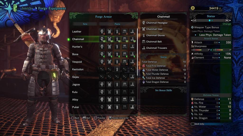 Monster Hunter World Male Cainarmor By Tronhoward On Deviantart