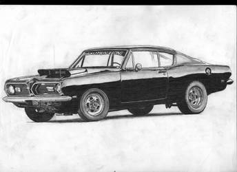 Plymouth Barraccuda Superstock 1968 by widowmaker440