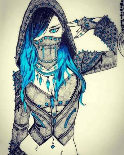 Blue hair by widowmaker440