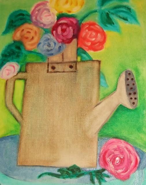 FlowerWaterCan by poempainter
