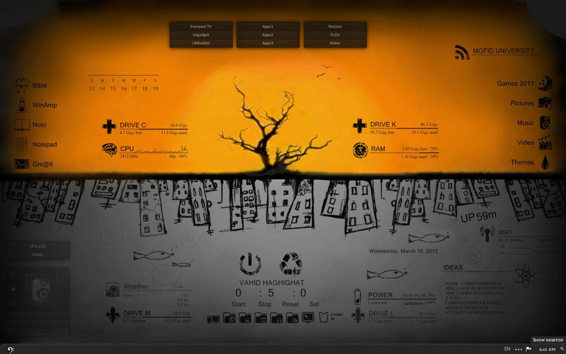 apple theme 4 rain meter by vahid-qom