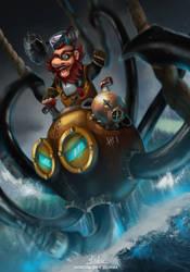 Octopus Rider by Kafinnis
