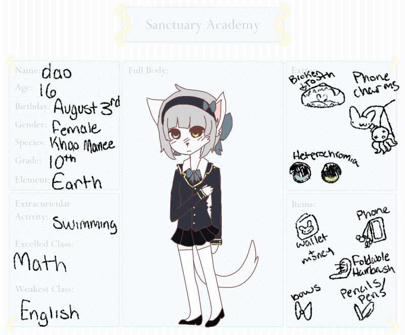 Sanctuary-Academy -- Dao Montri by tetkun