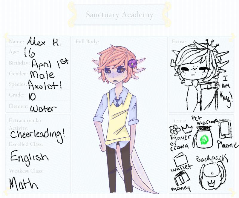 Sanctuary-Academy -- Alex Hanemyu by tetkun