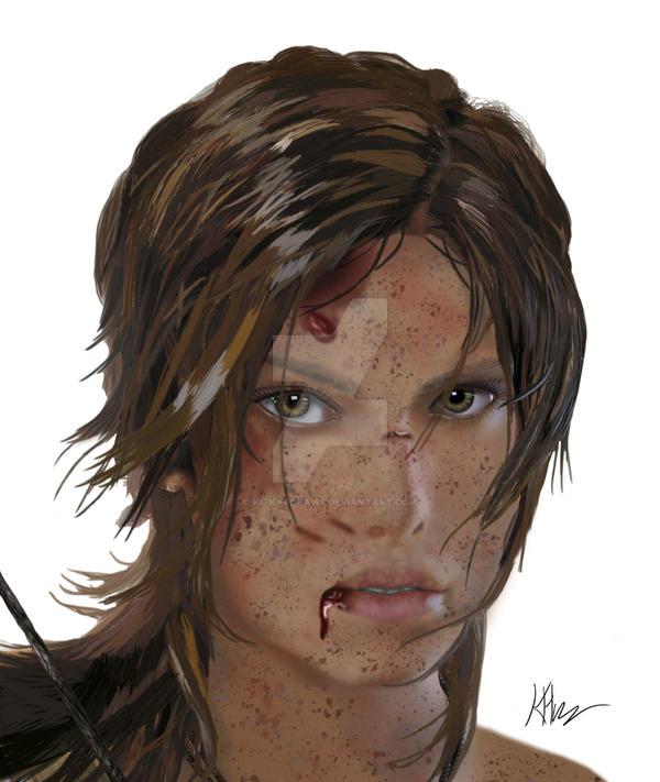 Lara Croft Reborn by KitkatDraws