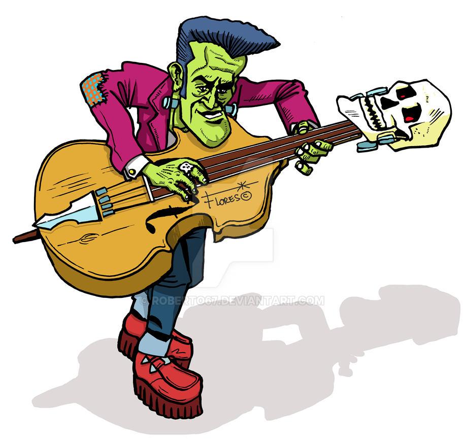 Rockabilly Wallpaper: Frankenstein Rockabilly Rocker Slap Bass 2 By Roberto67 On