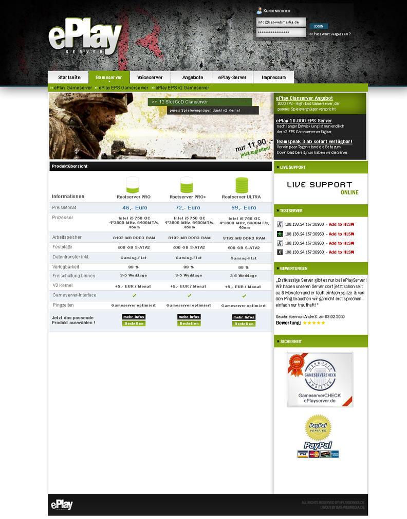 ePlay-Server Hosting Design by BAS-design on DeviantArt