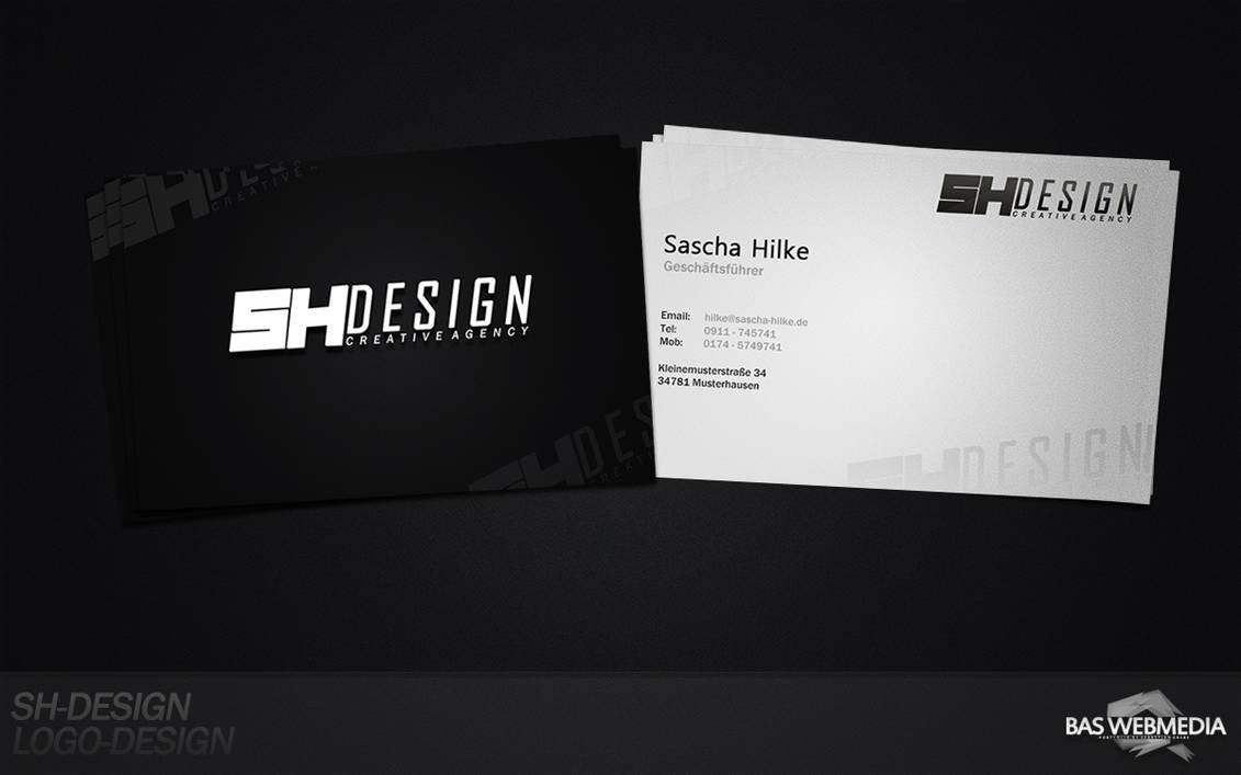 Sh Design Visitenkarten Design By Bas Design On Deviantart
