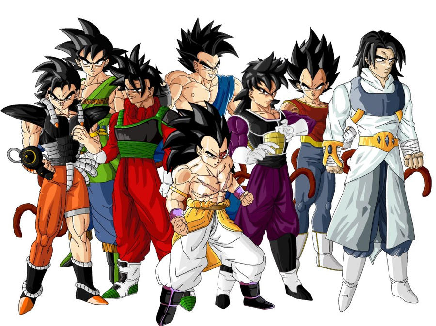 all my saiyan the 8team by naraotor on deviantart