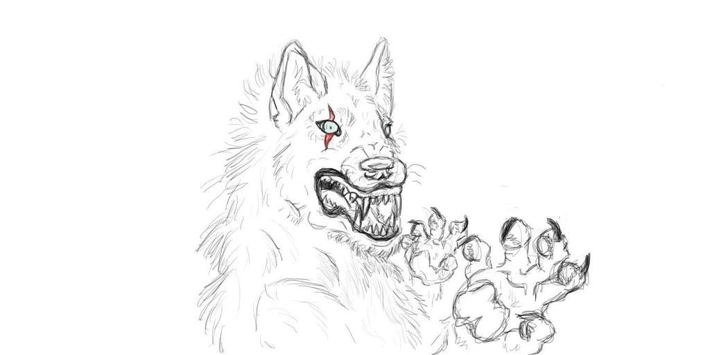 Sketchbook werewolf by lovewolf1998