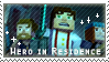Hero In Residence Fan Stamp by StampsMCSM