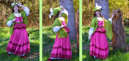 Pink Sleeveless Kampfrau Gown