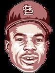 Lou Brock MLB HoF portrait