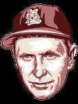 Red Schoendienst MLB HoF portrait