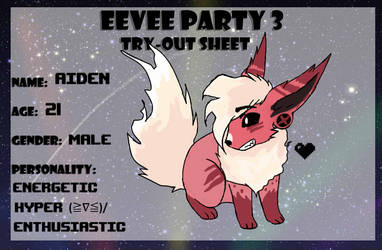Eevee Party 3- Aiden by CaptainKaspurr
