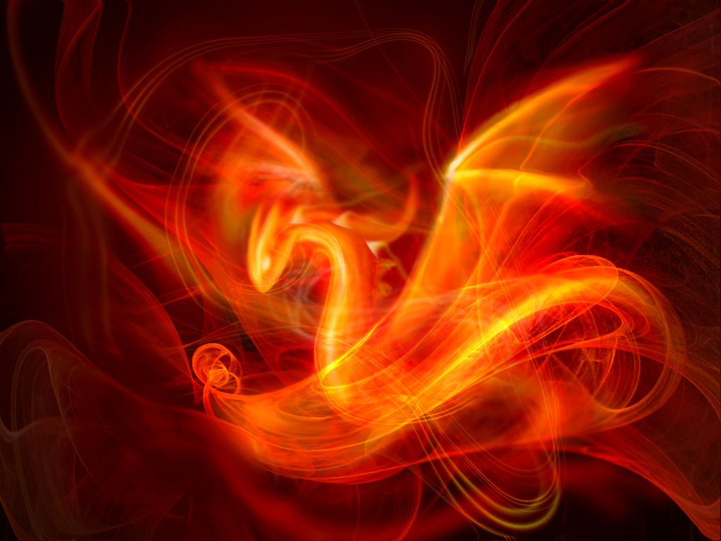 Flame Dragon Fractal by harbingerofdeath13