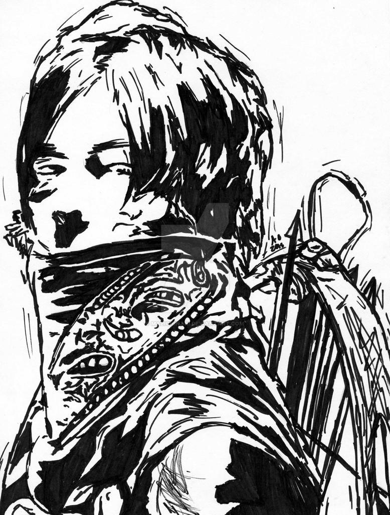 Daryl Dixon    The Walking Dead-Marker Speed Draw by Malichinari on ...