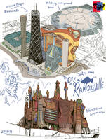 Jowy comic development: Ramsusville concept ideas