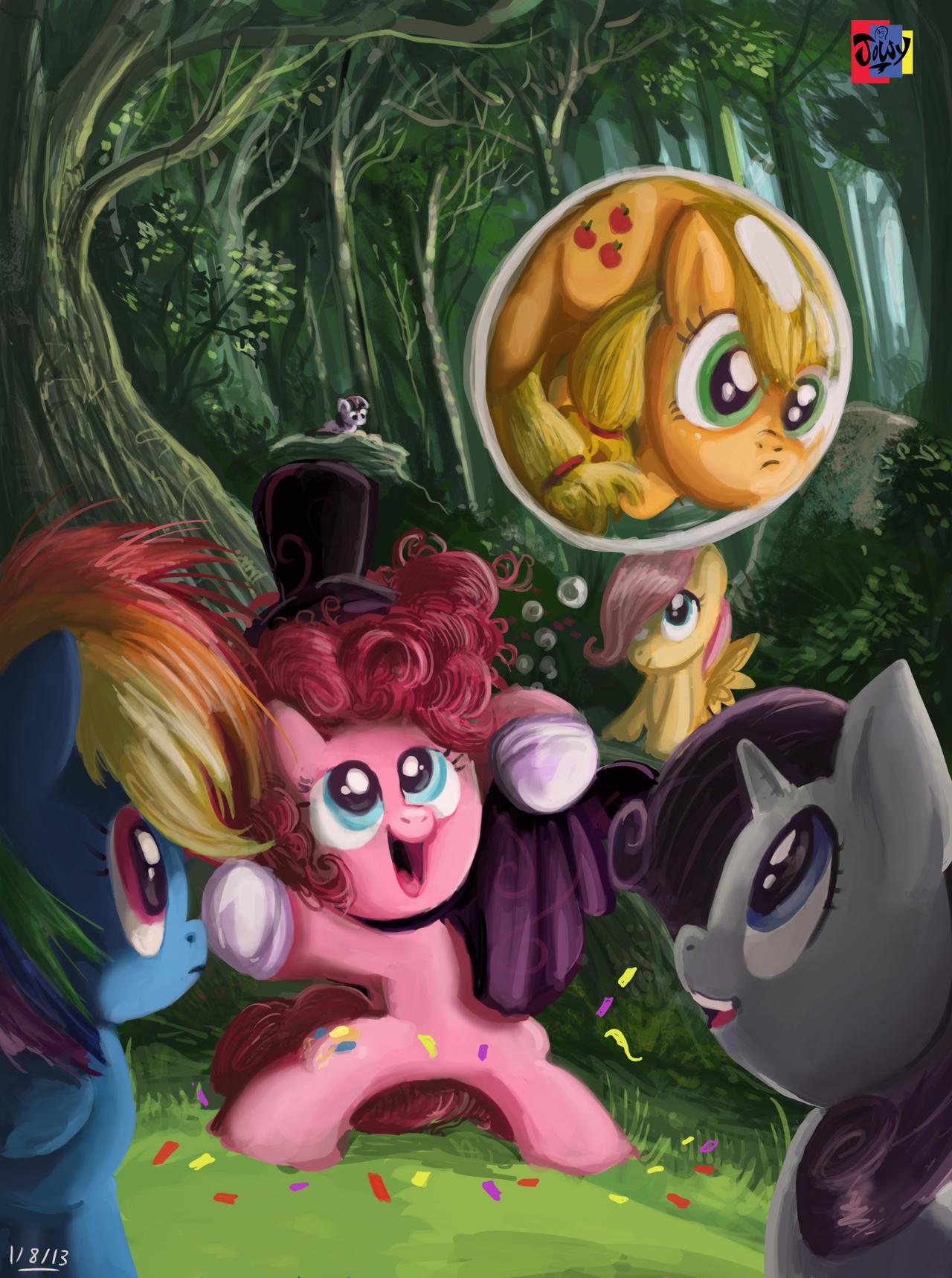 Bubble Troubled apple by Jowybean