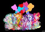 Rainbow Paint by Jowybean