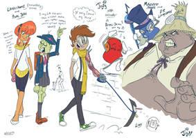 Jowyverse character doodles 1 by Jowybean