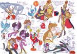 Jowyverse character doodles 2