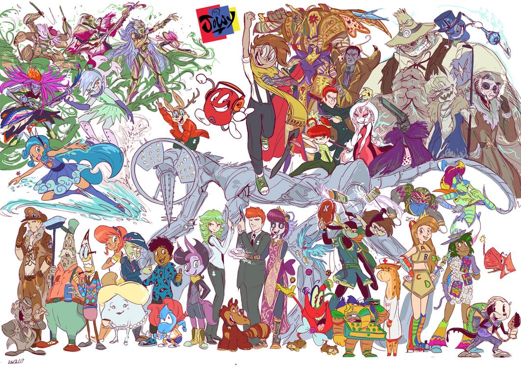 Jowyverse cast (Sketch) by Jowybean
