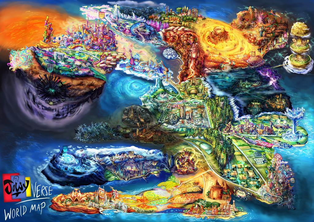 Jowyverse map  by Jowybean