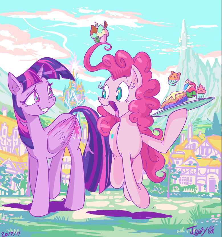 Passing cake by Jowybean