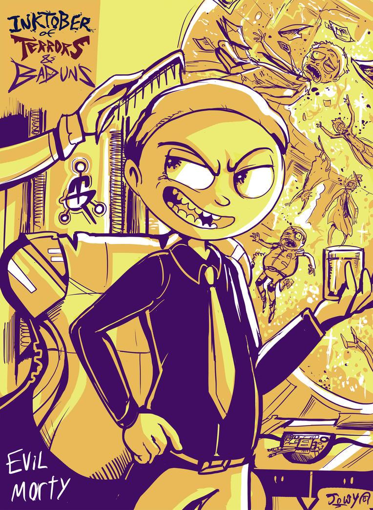 Evil Morty by Jowybean