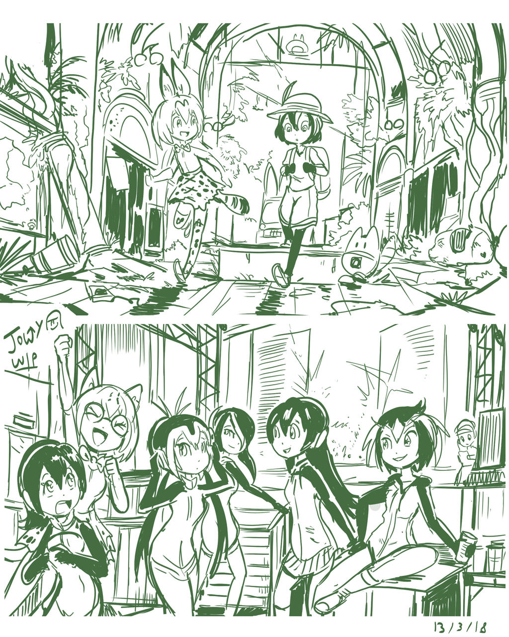 Japari Park sketches by Jowybean