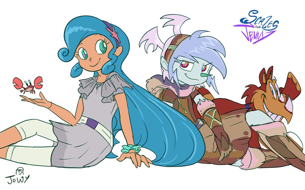 Project Scales and Jenny 1 by Jowybean