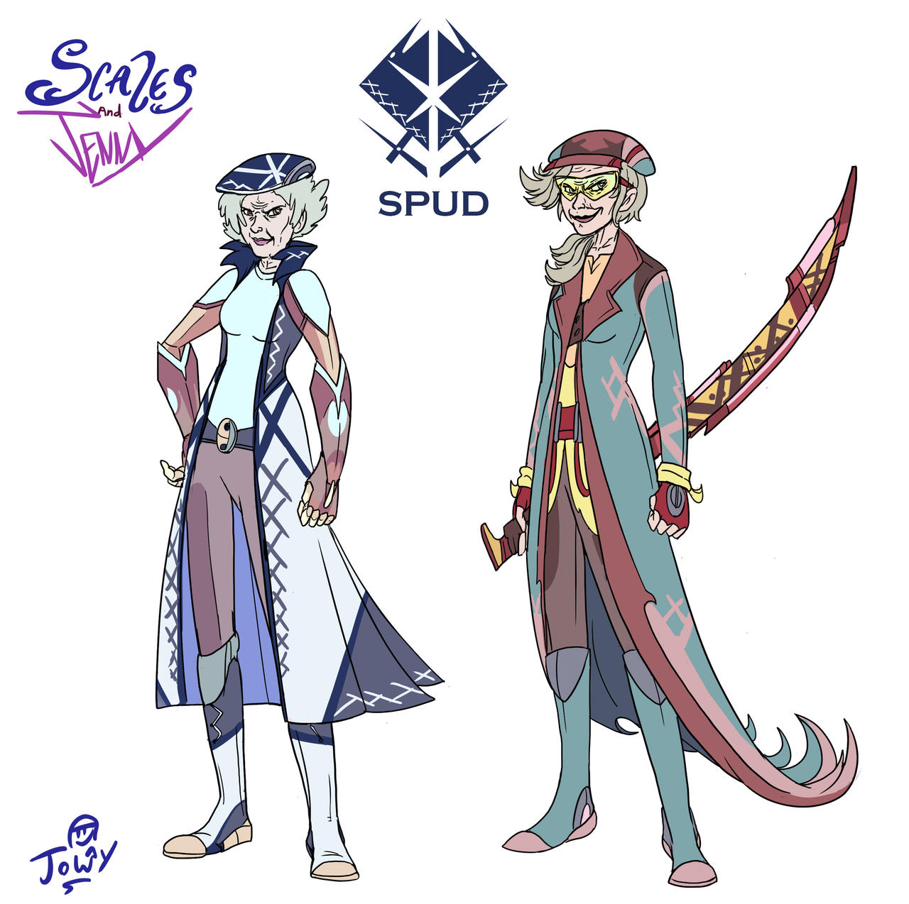 Project Scales and Jenny SPUD heads by Jowybean