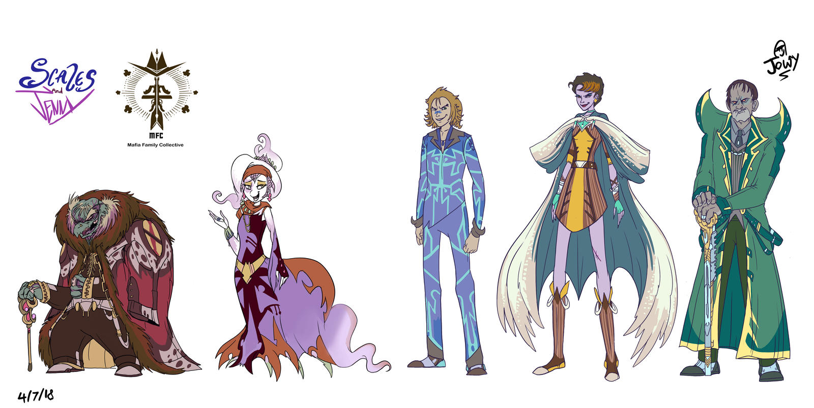 Project Scales and Jenny MFC bosses by Jowybean