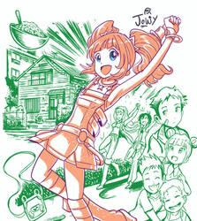 Kawaiicember Yayoi by Jowybean
