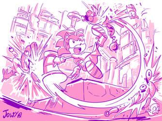 Metal Punching Pink by Jowybean