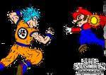 SSB Project Multiverse - Mario VS Goku (Art)