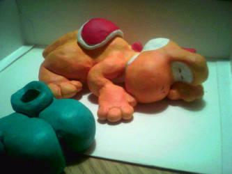 Sleeping Yoshi by teh-yoshi