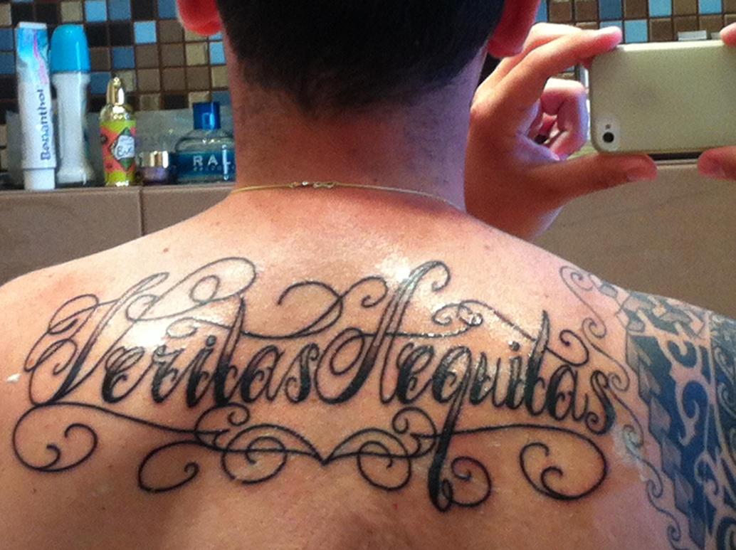 Veritas aequitas chicano lettering by makisg on deviantart for Veritas aequitas tattoos