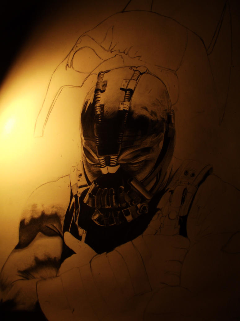 In progress Tom Hardy Bane by bmac78 on deviantART