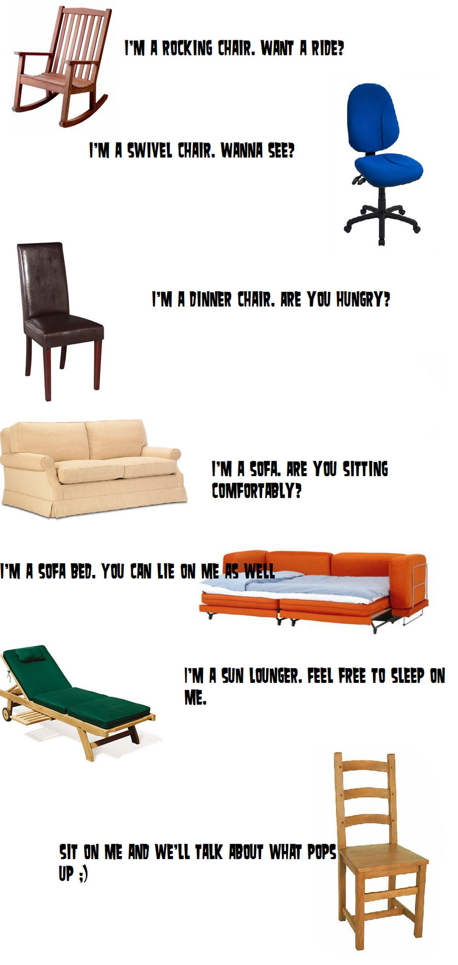 Chair Pick-Up Lines by s-i-b-u-n-a on DeviantArt
