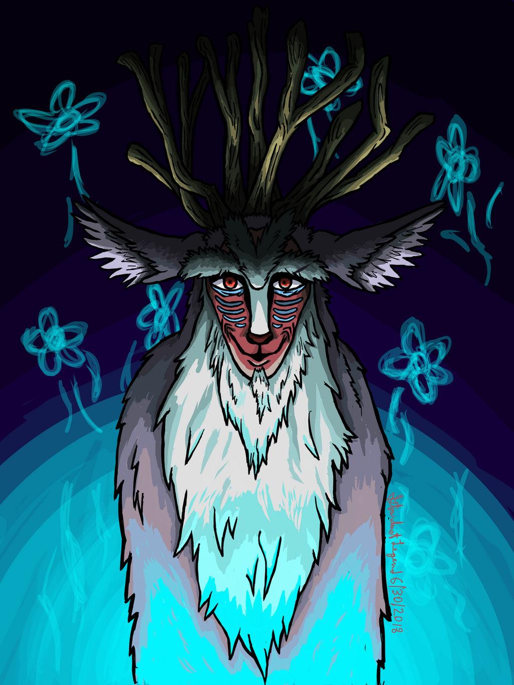 The Forest Spirit Princess Mononoke Fanart By Stardust Legend On