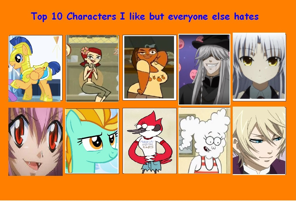 Anime Characters Everyone Hates : Top characters i like but everyone hates by awesome