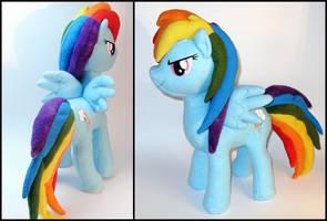 Rainbow Dash Plushie by Jequila